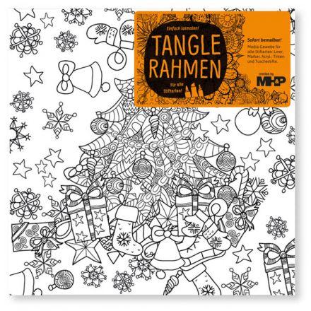 Weihnachtsbaum Tangle Leinwandrahmen 20x20 Zenmalerei für Stifte ...