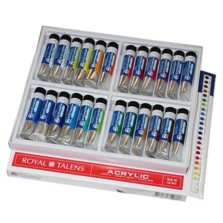 Acrylfarben-Set mit 24 Tuben a 12ml von Royal Talens | eBay